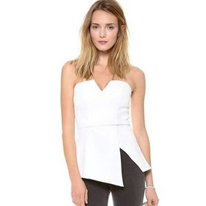 Finders Keepers Jump Then Fall Peplum Bustier Top